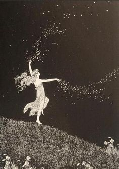 Fairy Beauty scattering Stars  Illustrated by Ida Rentoul Outhwaite.