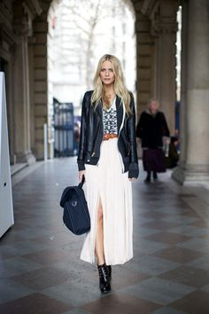 Poppy Delevingne outside Somerset House at London Fashion Week, February 2012. Photographer: Marcus Dawes