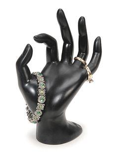 Hand Form Display, Black, Polyresin at Sova-Enterprises.com