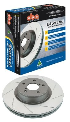 DBA Street Series Rear Drilled & Slotted Rotors for Evo 8/9