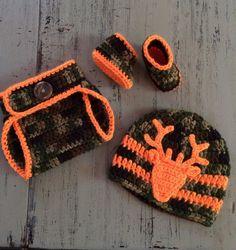 Items similar to Newborn Crochet Camo Hat 7db546b98f4b
