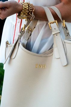 monogrammed purse and jewelry