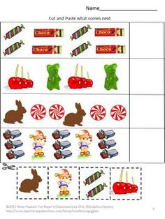 Celebrate National Candy Month Cut and Paste Worksheets for pre-K.K and Special Education. All humans, young and old, have a sweet tooth. Candy is a fun treat once in a while. Students can have their sweets but not the health effects that come from too much candy with this Celebrate National Candy Month Cut and Paste Worksheet packet.