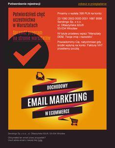 Dochodowy email marketing w ecommerce - potwierdzenie rejestracji na szkolenie prowadzone przez Sendingo.pl / #email #emailmarketing #szkolenie #ecommerce
