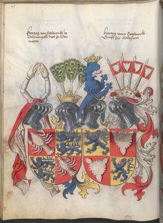 Grünenberg, Konrad: Das Wappenbuch Conrads von Grünenberg, Ritters und Bürgers zu Constanz um 1480 Cgm 145 Folio 103