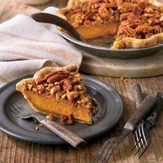 Pumpkin-Pecan Streusel Pie     MyRecipes