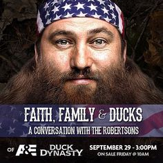 Announcement: Faith, Family, & Ducks A's Duck Dynasty stars coming to Rupp Arena in support of @The Frankfort Christian Academy on September 29th, 2013!