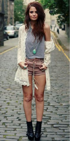 love the cardigan and her hair, wish mine would grow!