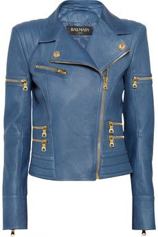 Wow...I would love to get a jacket just like this!! Balmain Leather biker jacket | NET-A-PORTER
