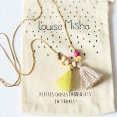 This Louise MishaDESIGNER'S NECKLACE - SABLEis handmade in Paris.