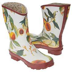 Fabulous rain, barn or gardening boots by  Basia Zarzycka (http://basia-zarzycka.com)