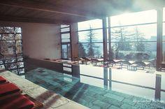 Spa swimming pool vigilius mountain resort South Tyrol Italy