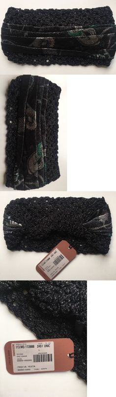 Hair Accessories 45220: Nwt Gorgeous Missoni Black Knit Beach Turban Headband 1 Sz Made In Italy -> BUY IT NOW ONLY: $95 on eBay!