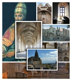 """""""Palais des Papes - Avignon"""" by assymi ❤ liked on Polyvore featuring art"""