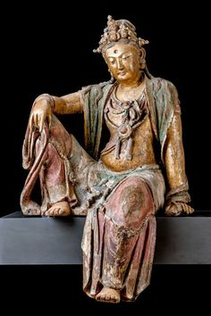 A wooden Guanyin deity, about 900 years old, will return to view at the Museum of Fine Arts, Boston. Credit Museum of Fine Arts, Boston