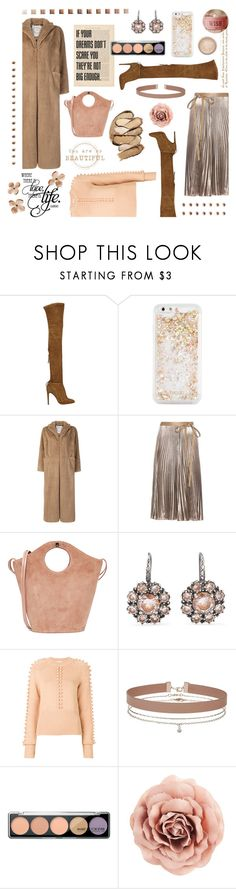 """""""Blush & Beige Dreams"""" by dlmusiel ❤ liked on Polyvore featuring Aquazzura, ban.do, PINK MEMORIES, Valentino, Elizabeth and James, Bottega Veneta, Chloé, Miss Selfridge, MAKE UP FOR EVER and Too Faced Cosmetics"""