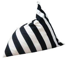 Monochrome Stripe Bean Bag