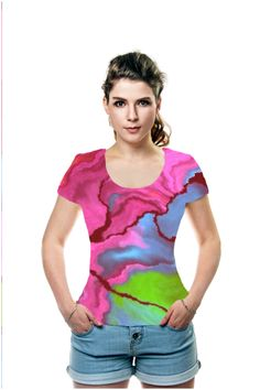By Claudia Neusiedler, OArtTee specializes in creating amazing, vibrant and colorful Wearable Art