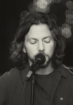 Something about this shot of Eddie Vedder is captivating.