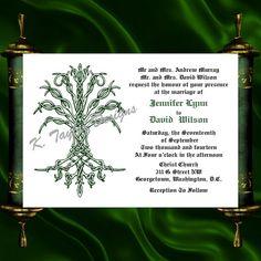Tree Of Life Invitation & RSVP    Celtic Life by KateTaylorDesigns, $1.65