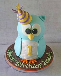 This is part 1 or a two part tutorial on how to make a standing owl cake for a birthday or special event.