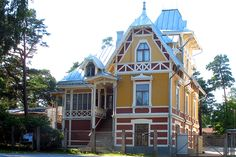 "The most beautiful house ever - old school in Uniluoto, Finland. Uniluoto means ""Islet of Dream"" :)"