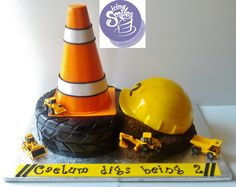 This is an Icing Smiles cake that I made for a little boy that likes construction and dump trucks :)