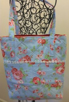 Shabby chic shoulder or diaper bag.  on Etsy, $49.00