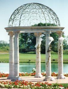 Cast Stone Gazebo, with Scamozzi style columns