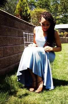 """How cute is our model fixing our maxidress and giving us a glimpse of her Jessica Simpson """"Dany"""" Perforated Sandals!  Check her out in our sundress at www.sizenineten.com"""