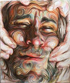 Artist Nikos Gyftakis has created some of the most crazy, intricate portraits I've seen.Artist Nikos Gyftakis has created some of the most crazy, intricate portraits I've seen. Nikos Gyftakis, Distortion Art, L'art Du Portrait, A Level Art, Wow Art, Illustration, High Art, Arte Pop, Detail Art