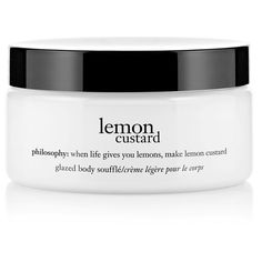 philosophy 'lemon custard' glazed body souffle (£15) ❤ liked on Polyvore featuring beauty products, bath & body products, no color, philosophy perfume and philosophy beauty products