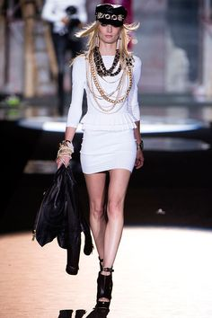 Tendencias 2013 vestidos blanco para el verano - Dsquared2 summer