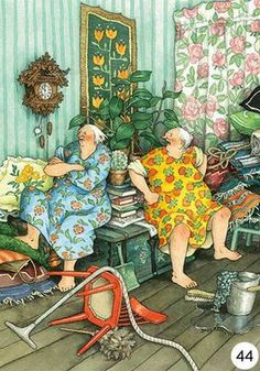 Ideas Funny Friends Illustration Inge Look For 2019 Old Lady Humor, Funny Illustration, Whimsical Art, Old Women, Illustrators, Folk Art, Cute Pictures, Old Things, Artsy