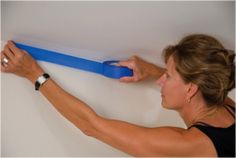 Using painters tape:  1. Apply low-tack painter's tape on trim to create sharp, even line.     2. Press and smooth your tape with a putty knife or a credit card to keep paint from seeping under the tape edge.    3. Once your paint is dry to the touch, remove the tape and slowly peeling it back over itself.