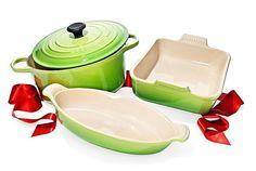 Oprah's Favorite Things For Home 2014 | Why Oprah loves them: She's already a huge fan of Le Creuset but loves that these come in her favorite shade of green.