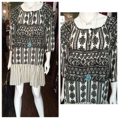 Blk and white boho style dress by Glam