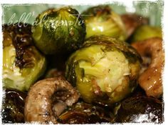 Roasted Brussel Sprouts with Mushrooms. This sounds an awful lot like something wonderful that my sister made last week. Got to try it!