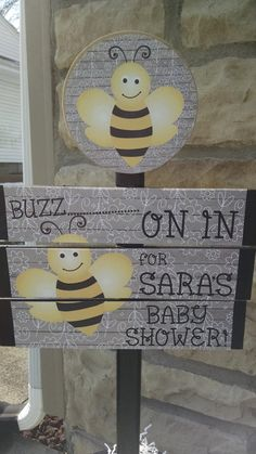 Bumble Bee Baby Shower Yard Sign With FREE by MinisPartySigns