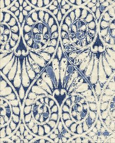 Tapestry Collection - ANOUK - Indigo by Robin Gray Design LLC. ANOUK indigo combines the chakra force colors of indigo and natural-white. Hand knotted in Nepal knots per inch Himilayan wool & or Chinese silk. Motifs Organiques, Motifs Textiles, Textile Patterns, Textile Prints, Color Patterns, Print Patterns, Surface Pattern Design, Pattern Art, Posca Art