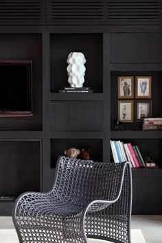Regards et Maisons blog- black wall - casa vogue