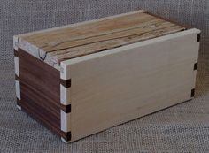 Shaker Style Box Handcut Dovetails with Sliding by WoodworksbyJohn, $130.00