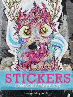 London Street Art - Photographic collection of Shoreditch Sticker Art. Click to see the full set. #Streetart #Stickers #Hookedblog Bristol Street, London Street, London Art, Black And White Stickers, Best Street Art, Child Doll, Cute Creatures, Street Signs, Street Artists