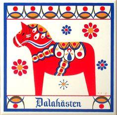 Swedish Dala horse - sweet