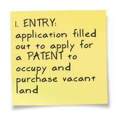 The land grant process in North Carolina.