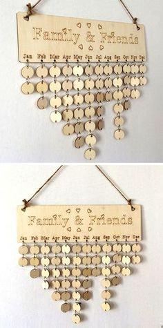 DIY Wooden Family And Friends Birthday Calenda