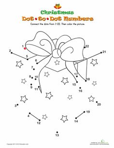 Worksheets: Christmas Dot-to-Dot 3