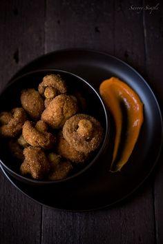 Crispy Old Bay Mushrooms with Sriracha Mayo ~ Savory Simple ~ www.savorysimple.net #AMushroomGathering
