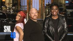 Louis C.K. hosts the #SNL40Finale with musical guest Rihanna on Saturday!