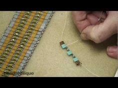 - In this video, learn how to bead weave a cuff bracelet using an assortment of beads including contrasting colors of Tila beads; which will provide a striped appearance.